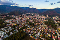 Aerial view of Antigua, Guatemala shot by drone on Wednesday, May 2, 2018.