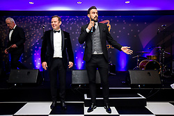 Marlon Pack and CEO Mark Ashton of Bristol City drum up support for the charity auction as Bristol Sport hosts their annual Gala Dinner at Ashton Gate Stadium - Rogan/JMP - 14/12/2017 - SPORT - Ashton Gate Stadium - Bristol, England - Bristol Sport Gala Dinner 2017.