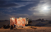 Moonlit Camp in the White Desert, Egypt