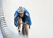 Sam Webster competes in the (ME) sprint in the Avanti BikeNZ Classic, Avantidrome, Cambridge, New Zealand, Thursday, September 18, 2014, Credit: Dianne Manson/BikeNZ