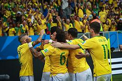 Lance do treino de Brasil antes da partida contra o Colombia, válida pelas oitavas de final da Copa do Mundo 2014, no Estádio Presidente Vargas, em Fortaleza-CE. FOTO: Jefferson Bernardes/ Vipcomm