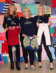 (L-R) Abbey Clancy, Joanna Lumley and Zoe Ball at the launch in London of the 'Love, Mum' campaign by Marks & Spencer and Oxfam to raise money for mothers living in poverty,  Tuesday, 4th February 2014. Picture by Nils Jorgensen / i-Images