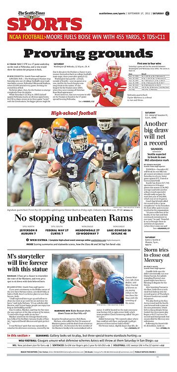 Seattle Times newspaper page Sports section | Seattle Times