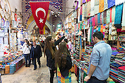 Young women tourists shopping in The Grand Bazaar, Kapalicarsi, great market, Beyazi, Istanbul, Republic of Turkey