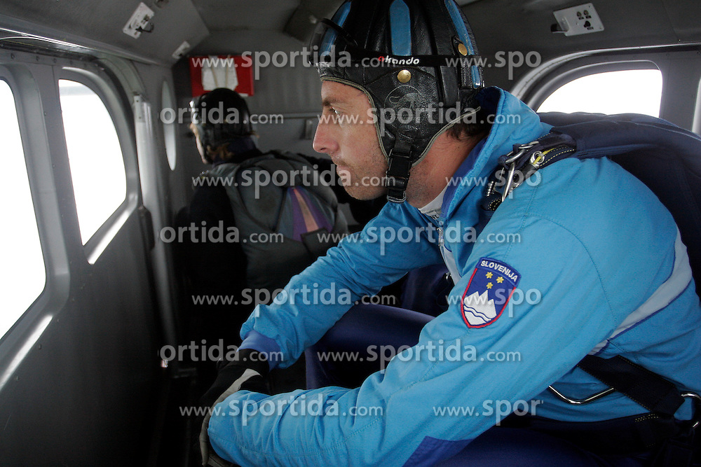 Slovenian parachuter at training, on September 21, 2005, in Lesce-Bled, Slovenia. (Photo by Vid Ponikvar / Sportal Images)
