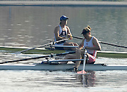 Hazewinkel, BELGIUM, W1X, Katherine GRAINGER moves past a dissapointed Debbie FLOOD after the  A Final, of the Women's  Single Sculls, at the GB Rowing Senior Trials, on Mon 16.04.2007  [Credit, Peter Spurrier/Intersport-images]   [Mandatory Credit, Peter Spurier/ Intersport Images]. , Rowing Course, Bloso, Hazewinkel. BELGUIM