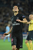 Uruguayan forward Edinson Cavani of Paris Saint Germain reacts during the UEFA Champions League Group A football match between Paris Saint Germain and Malmo FF on September 15, 2015 at Parc des Princes stadium in Paris, France. Photo Jean Marie Hervio / Regamedia / DPPI