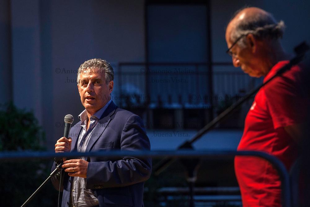 Il PM Nino Di Matteo interviene sul palco di via D'Amelio in occasione del 25° anniversario dell'uccisione di Paolo Borsellino e della sua scorta.