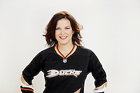 9 November 2012:  Marie Beauchemin. Wife of NHL Anaheim Ducks player Francois Beauchemin. Photographed for the Real Housewives of the National Hockey League in Tustin, CA.