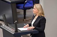 24 MAR 2017, BERLIN/GERMANY:<br /> Verena Bentele, Beauftragte der Bundesregierung<br /> für die Belange von Menschen mit Behinderungen, haelt eine Rede, waehrend der Bundestagesdebatte zum Teilhabebericht der Bundesregierung 2016, Plenum, Deutscher Bundestag<br /> IMAGE: 20170324-01-049
