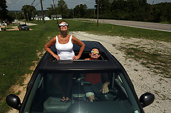 August 21, 2017 - Herculaneum, Missouri, U.S. - ''I am surprised there are not more people here,'' said Rick Wiese of Pevely, who found a spot off Highway 61 to watch the eclipse with his wife Donna on Monday. Herculaneum was in the path of totality for approximately 2 minutes and 32 seconds. (Credit Image: © Laurie Skrivan/TNS via ZUMA Wire)