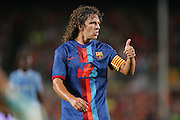 Carlos Puyol during the Joan Gamper Trophy match between Barcelona and Manchester City at the Camp Nou Stadium on August 19, 2009 in Barcelona, Spain. Manchester City won the match 1-0.