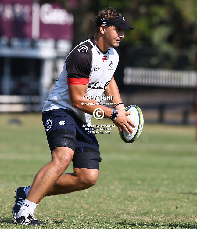 Etienne Oosthuizen  during The Cell C Sharks training session at Growthpoint Kings Park in Durban, South Africa. 11th May 2017(Photo by Steve Haag)<br /> <br /> images for social media must have consent from Steve Haag