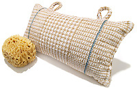 bath pillow and sea sponge