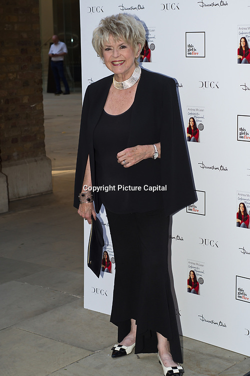 Gloria Hunniford attending the launch of Andrea McLean's new book Confessions of a Menopausal Woman at the Devonshire Club in London on June 26 2018..