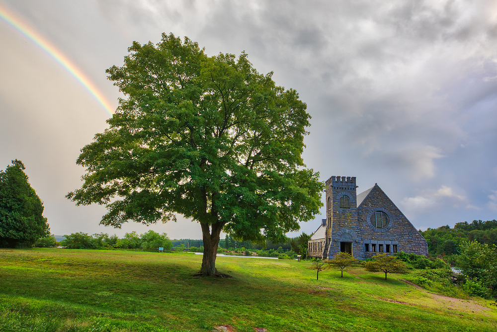 Rain and sunshine formed this beautiful rainbow across the abandoned Old Stone Church and Wachusett Reservoir in West Boylston, Massachusetts shortly before the storm at sunset. This National Historic Site is located on the banks of the Wachusett Reservoir in Worchester County, Central Massachusetts.<br /> <br /> Wachusett Reservoir and Old Stone Church rainbow photography wall arts is available in museum quality photo, canvas, acrylic, wood or metal prints. Wall art prints may be framed and matted to the individual liking and interior design decoration needs:<br /> <br /> https://juergen-roth.pixels.com/featured/before-the-storm-juergen-roth.html<br /> <br /> Good light and happy photo making!<br /> <br /> My best,<br /> <br /> Juergen<br /> Licensing: http://www.rothgalleries.com<br /> Photo Prints: http://fineartamerica.com/profiles/juergen-roth.html<br /> Photo Blog: http://whereintheworldisjuergen.blogspot.com<br /> Instagram: https://www.instagram.com/rothgalleries<br /> Twitter: https://twitter.com/naturefineart<br /> Facebook: https://www.facebook.com/naturefineart