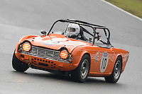 #10 Dave Bailey Triumph TR4 2400 during the CSCC Adams and Page Swinging Sixties at Oulton Park, Little Budworth, Cheshire, United Kingdom. October 15 2016. World Copyright Peter Taylor/PSP. <br /> Copy of publication required for printed pictures.  Every used picture is fee-liable. http://archive.petertaylor-photographic.co.uk