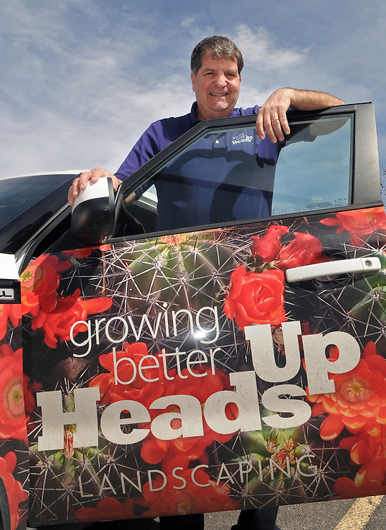 jt030317e/biz/jim thompson/Gary Mallory of Heads up Landscaping. Friday March 03, 2017. (Jim Thompson/Albuquerque Journal)