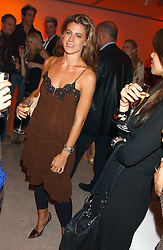 FRANCESCA VERSACE at a cocktail party hosted by MAC cosmetics to kick off London Fashion Week at The Hospital, 22 Endell Street London on 18th September 2005.At the event, top model Linda Evangelista presented Ken Livingston the Lord Mayor of London with a cheque for £100,000 in aid of the Loomba Trust that aims to privide education to orphaned children through a natural disaster or through HIV/AIDS.<br /><br />NON EXCLUSIVE - WORLD RIGHTS