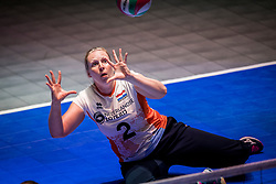 16-07-2018 NED: World Championship sitting volleyball women, Arnhem<br /> Netherlands - Rwanda 3-0 / Anne Raben #2 of Netherlands