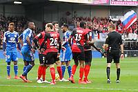 EXPULSION Christophe KERBRAT / Clement TURPIN - 04.04.2015 - Guingamp / Lyon - 31eme journee de Ligue 1<br />Photo : Vincent Michel / Icon Sport