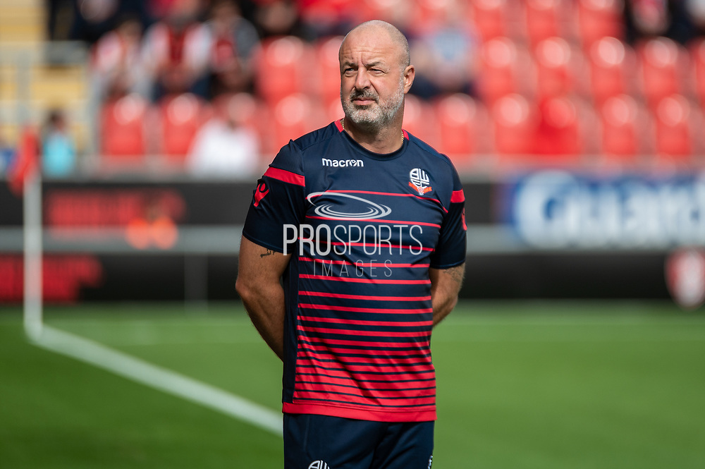 Bolton Wanderers Manager Kieth Hill during the EFL Sky Bet League 1 match between Rotherham United and Bolton Wanderers at the AESSEAL New York Stadium, Rotherham, England on 14 September 2019.