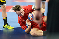 Kasparek Stanislav of Czech Republic during handball match between National teams of Germany and Czech Republic on Day 2 in Main Round of Men's EHF EURO 2018, on January 19, 2018 in Arena Varazdin, Varazdin, Croatia. Photo by Mario Horvat / Sportida