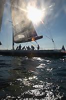 Sailboat on ocean