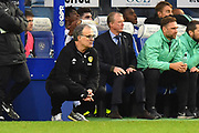 Leeds United Manager Marcelo Bielsa and Queens Park Rangers manager Steve McClaren in the technical area during the The FA Cup 3rd round match between Queens Park Rangers and Leeds United at the Loftus Road Stadium, London, England on 6 January 2019.