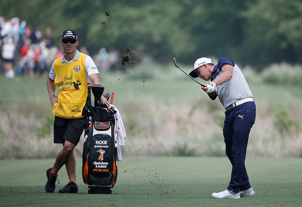 Rickie Fowler hits his approach shot on the 2nd fairway in the Shell Houston Open-Round 1 at the Golf Club of Houston on Wednesday, March 31, 2016 in Humble, TX. (Photo: Thomas B. Shea/For the Chronicle)