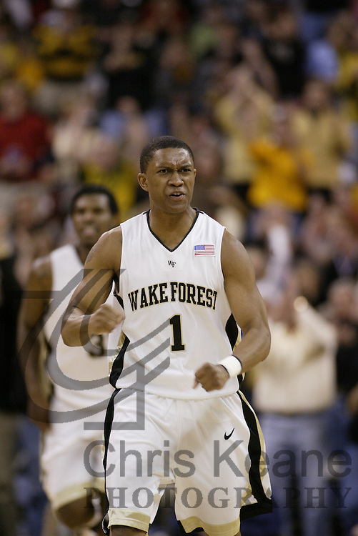 Wake Forest's XXX NC State's XXX during the second half of a college basketball game Saturday, March 4, 2006 at Lawrence Joel Veterans Memorial Coliseum in Winston-Salem, N.C. (AP Photo/Chris Keane)