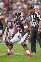 06 October 2013: Linebacker (55) Lance Briggs of the Chicago Bears in game action against the New Orleans Saints during the second half of the Saints 26-18 victory over the Bears in an NFL Game at Soldier Field in Chicago, IL.