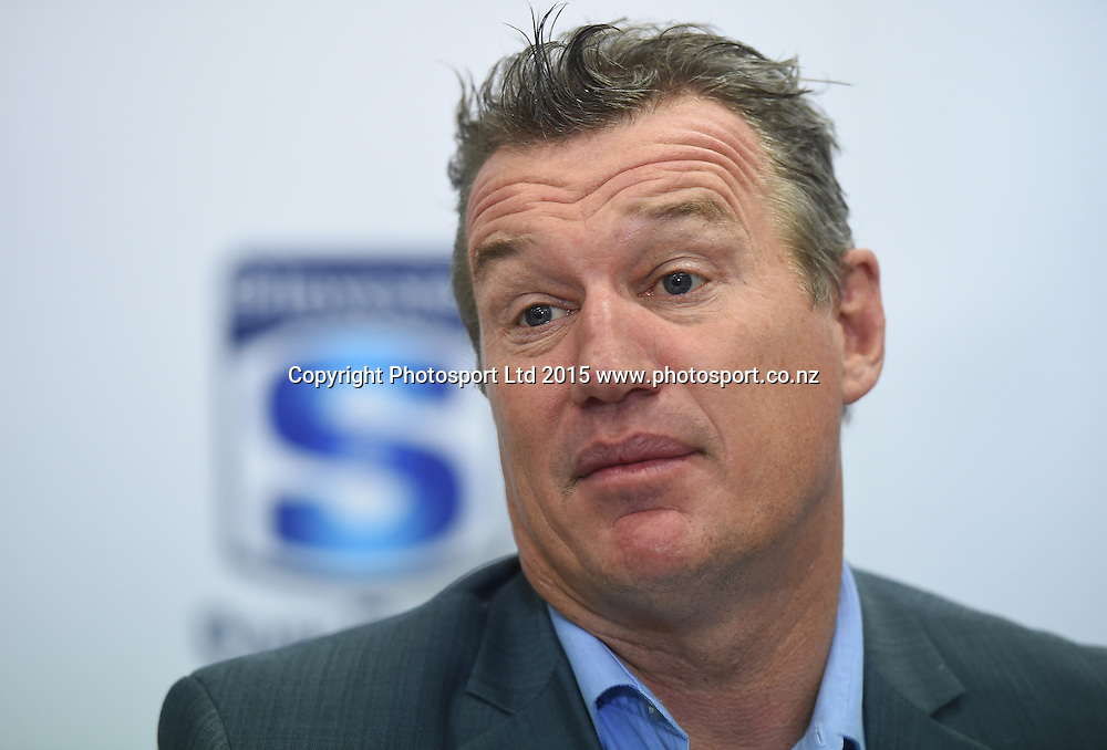 Blues Super Rugby Coach Sir John Kirwan resigns from his position as head coach. Unitec, Auckland, New Zealand. Friday 19 June 2015. Copyright Photo: Andrew Cornaga / www.Photosport.co.nz