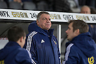 Sunderland manager Sam Allardyce during the Barclays Premier League match between Swansea City and Sunderland at the Liberty Stadium, Swansea, Wales on 13 January 2016. Photo by Mark Hawkins.