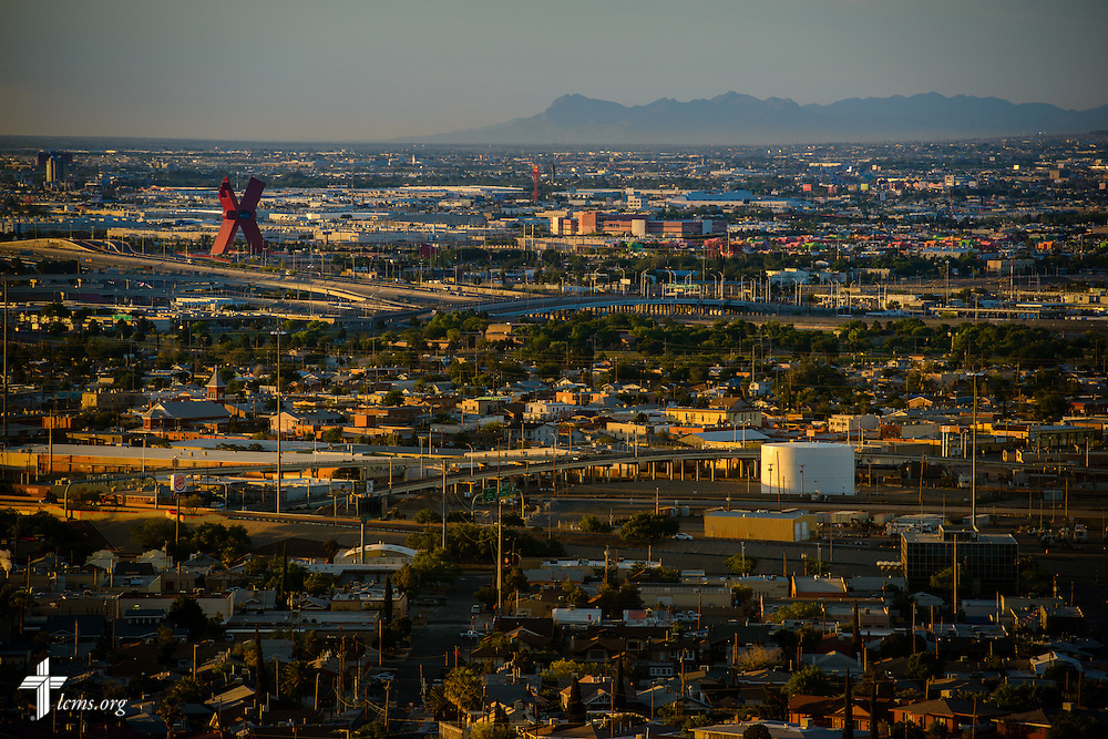 Sunrise overlooking Mexico on Sunday, May 22, 2016, in El Paso, Texas. LCMS Communications/Erik M. Lunsford