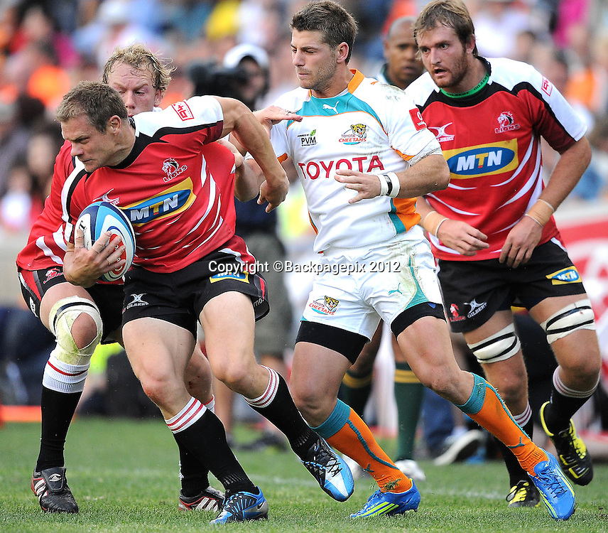 Deon van Rensburg for MTN Lions. Super Rugby - Free State Stadium aka Vodacom Park Stadium, Bloemfontein, South Africa. 7 April 2012.<br /> &copy;DeneseLups/BackpagePix