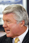 GLENDALE, AZ - JANUARY 8:  Jimmy Johnson talks about the match-up during the FOX Sports television broadcast of the Ohio State Buckeyes game against the Florida Gators at the 2007 Tostitos BCS National Championship Game at the University of Phoenix Stadium on January 8, 2007 in Glendale, Arizona. The Gators defeated the Buckeyes 41-14. ©Paul Anthony Spinelli *** Local Caption *** Jimmy Johnson