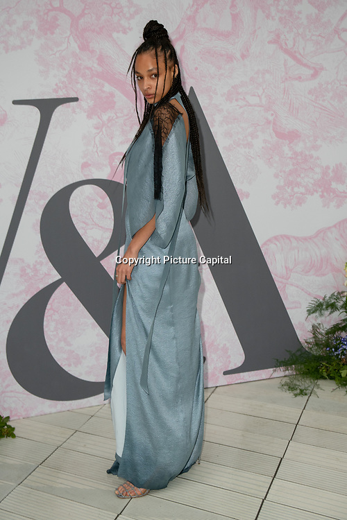Brionka Halbert arrives at V&A - summer party, on 19 June 2019, London, UK