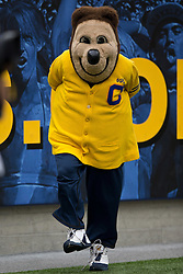 BERKELEY, CA - SEPTEMBER 12:  The California Golden Bears mascot Oshi stands on the sidelines during the third quarter against the San Diego State Aztecs at California Memorial Stadium on September 12, 2015 in Berkeley, California. The California Golden Bears defeated the San Diego State Aztecs 35-7. (Photo by Jason O. Watson/Getty Images) *** Local Caption ***