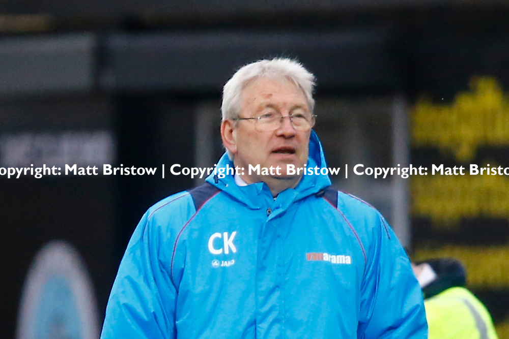 Dover's manager Chris Kinnear during the Vanorama National League match between Dover Athletic and Guiseley at Crabble Stadium, London, England on 27 January 2018. Photo by Matt Bristow.