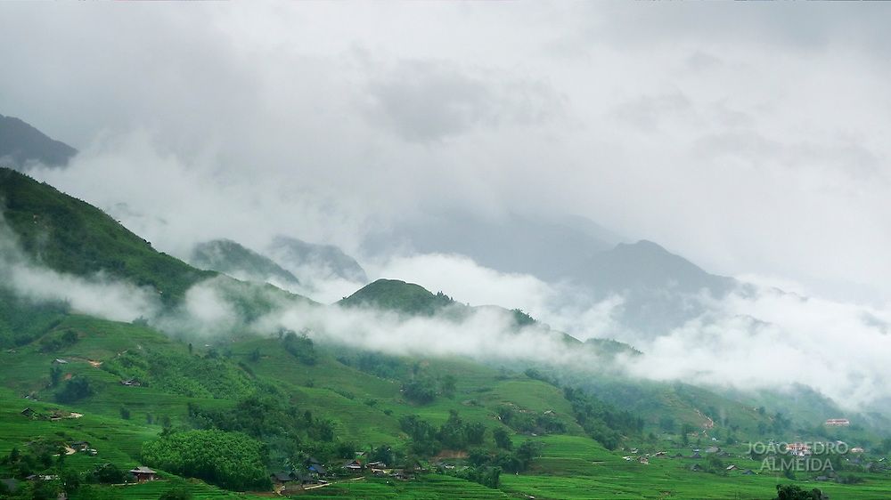 Mist at Northen Vietnam mountains