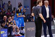 Esultanza panchina Cremona, VANOLI CREMONA vs BETALAND CAPO D'ORLANDO, 30^ Campionato Lega Basket Serie A 2017/2018, PalaRadi Cremona 9 maggio 2018 - FOTO: Bertani/Ciamillo