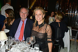 WILLIAM CASH and LADY FORTE at the PAD London 2015 VIP evening held in the PAD Pavilion, Berkeley Square, London on 12th October 2015.