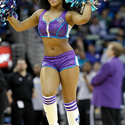 January 16, 2012; New Orleans, LA, USA; A New Orleans Hornets honeybees dancer performs during the second half of a game against the Portland Trail Blazers at the New Orleans Arena. The Trail Blazers defeated the Hornets 84-77.  Mandatory Credit: Derick E. Hingle-US PRESSWIRE