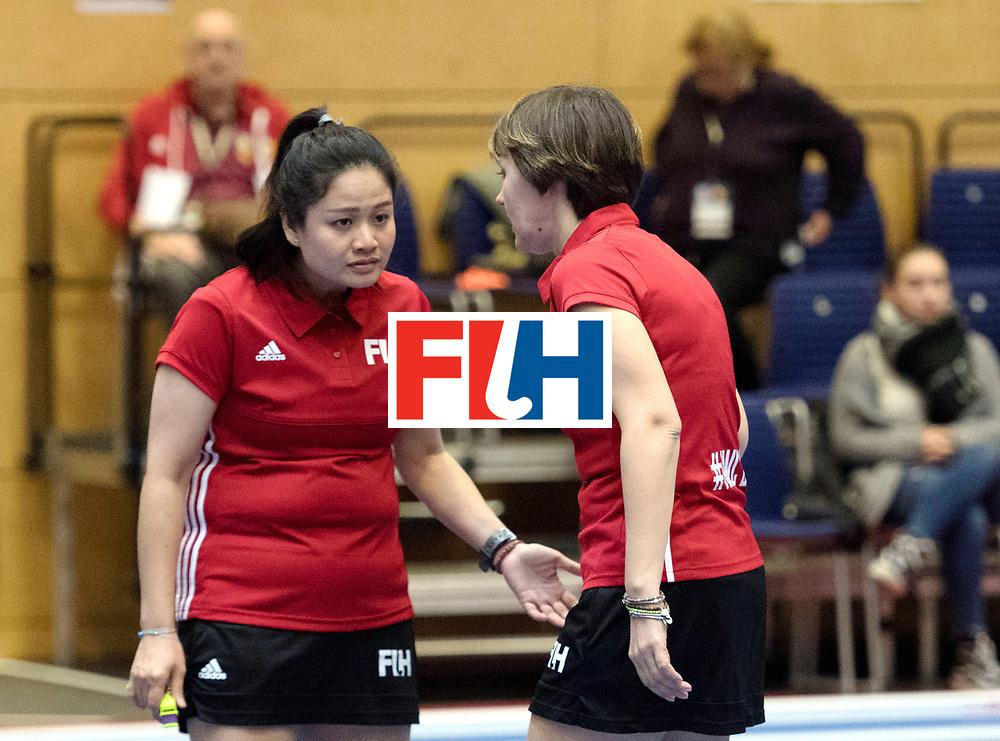 BERLIN - Indoor Hockey World Cup<br /> Australia - Namibia<br /> foto: Umpires KITTITEERASOPON Ornpimol and ESKINA Elena<br /> WORLDSPORTPICS COPYRIGHT FRANK UIJLENBROEK