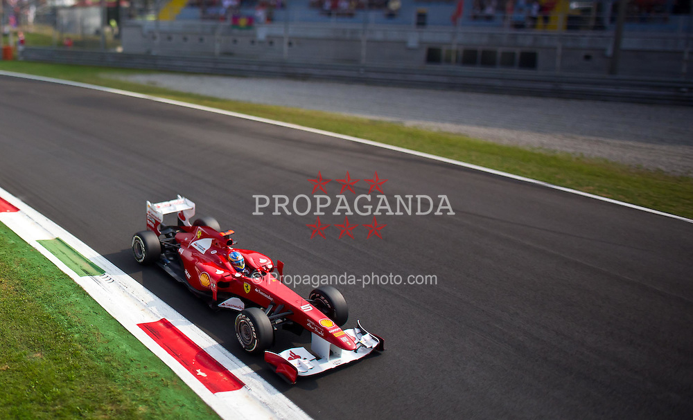 10.09.2011, Autodromo Nationale, Monza, ITA, F1, Grosser Preis von Italien, Monza, im Bild Fernando Alonso (ESP), Scuderia Ferrari  TILT AND SHIFT // during the Formula One Championships 2011 Italian Grand Prix held at the Autodromo Nationale, Monza, near Milano, Italy, 2011-09-10, EXPA Pictures © 2011, PhotoCredit: EXPA/ J. Feichter