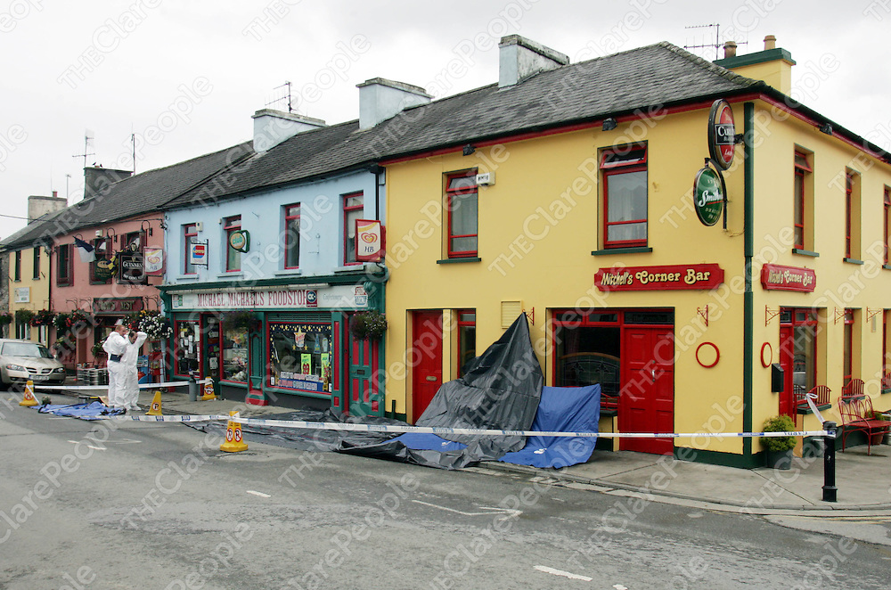 The scene of an assault in Kildysart CO CLare where a man was assualted and remains in a critical situation in hospital. Pic Sean Curtin Press 22.