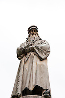 Milan, Italy. Leonardo da Vinci Statue.