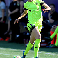 Seattle Reign FC forward Beverly Yanez (17) runs with the ball during a NWSL soccer match at Camping World Stadium on May 8, 2016 in Orlando, Florida. (Alex Menendez via AP)