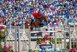 GUERDAT Steve (SUI), Bianca<br /> Tryon - FEI World Equestrian Games™ 2018<br /> FEI World Individual Jumping Championship<br /> Third cometition - Round B<br /> 3. Qualifikation Einzelentscheidung 1. Runde<br /> 23. September 2018<br /> © www.sportfotos-lafrentz.de/Stefan Lafrentz